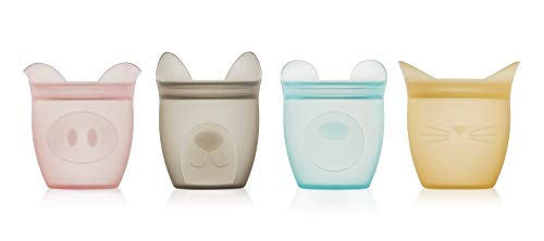🥇 Zip Top 100% Platinum Silicone Baby Snack Containers