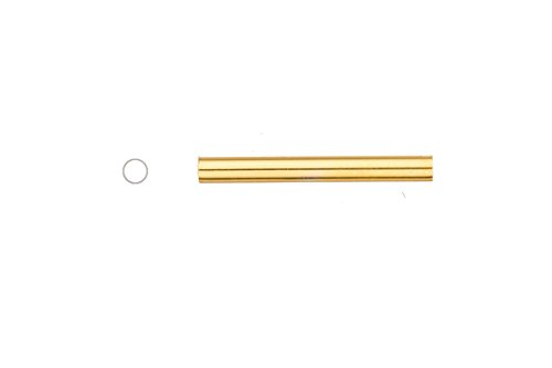 Light Weight Metal Tube Beads Gold Finished Round Staight Tube 3x25mm Sold per pack of 20