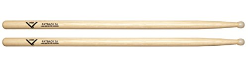 Vater 3A Nylon Tip Hickory Drum Sticks, Pair