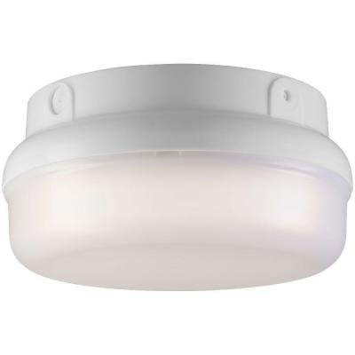 Newport Coastal Underway 2-Light Outdoor White Flush Mount by Hampton Products