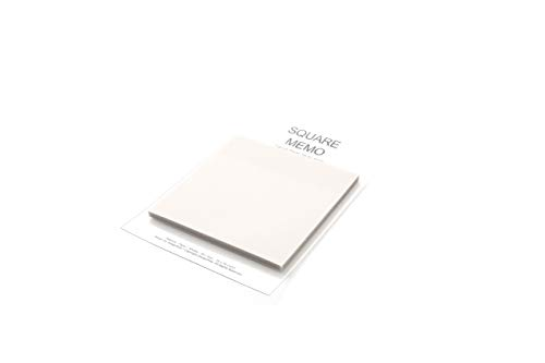 (Pack of 1) Creative Tracing Paper Sticky Memo 3 X 3 inches, 50 Sheets Cute Note Pads Square Styles Unique Self Adhesive Removable Transparent Memo Various Size Bookmark Page Flag -