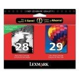 Lexmark No.28/29 Black and Color Ink Car...