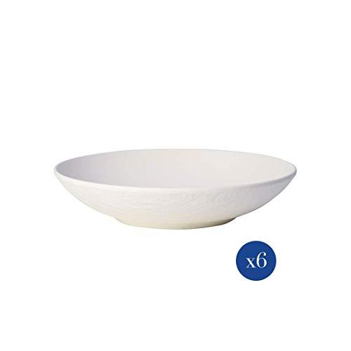 Villeroy & Boch - Manufacture Rock 10-4240-2536-6 - Cuencos (6 unidades, 23,5 cm, porcelana), color blanco