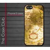 iPhone 5 Rubber Silicone Case - Old School Global Maps Maps of the world