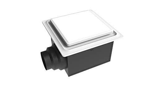 Aero Pure ABF110 L5 W ABF110L5 Ceiling Mount 110 CFM w/LED Light/Nightlight, Energy Star Certified, White Quiet Bathroom Ventilation Fan