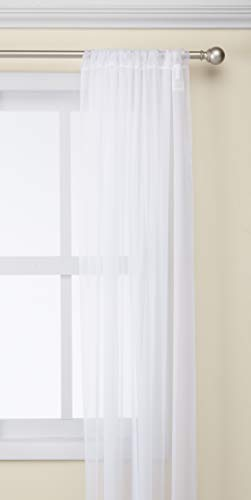 (Curtainworks Soho Voile Sheer Curtain Panel, 59 by 132