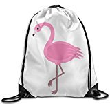 Price comparison product image NUBIA Pink Flamingo Backpack Gymsack Drawstring Sack Bag