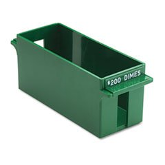 -- Porta-Count System Extra-Capacity Rolled Coin Plastic Storage Tray, Green by MOT3