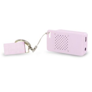 Rechargeable Mini Portable Keychain Speaker - Connect & Enjoy Your Music Anywhere! (Pink)
