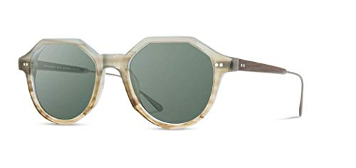Shwood - Powell Round Acetate & Wood Sunglasses - Boardwalk & Matte Sliver // Ebony