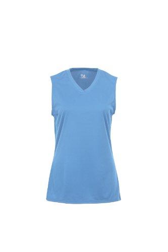 Badger Sportswear Women's B-Dry Sleeveless Performance Tee, Columbia Blue, X-Large -