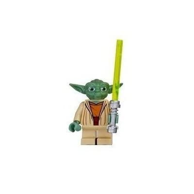 Yoda (Clone Wars) - LEGO Star Wars Figure with Lightsaber: Toys & Games