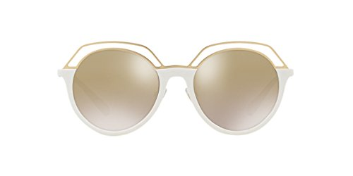 Tory Burch Women's 0ty9052 51mm Ivorygold Gradient Mirror One Size