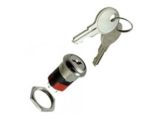 C & K COMPONENTS Y201132C203NQ Y Series DP Keypull Position 1 Solder Lug with Hole Tumbler Switchlock - 1 item(s)