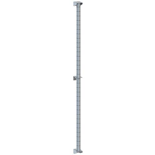 TableTop King 33PDF Super Erecta Stainless Steel Post-Type Wall Mount 33 5/8'' Post with Brackets