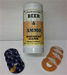 Beer & Ammo Washer Game ''Pit Kit''
