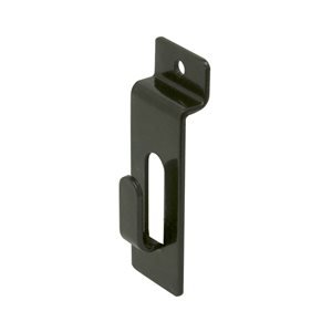 Slatwall Utility Hook for Slatwall Display - Picture Notch - Box of 25 Pieces - Black