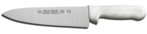 Dexter 12433 10-Inch Cook's Knife, High-Carbon Steel with White Handle ()