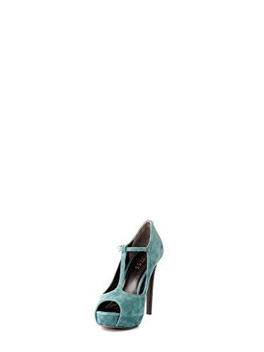 GUESS Zapatos de Salón Mujer Verde Gamuza (39 EU)