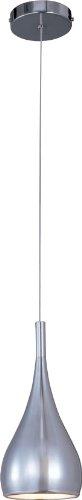 Modern Single Light Cone (ET2 E24055-PC, Teardrop Mini Cone Pendant, 1 Light, 75 Total Watts, Chrome)