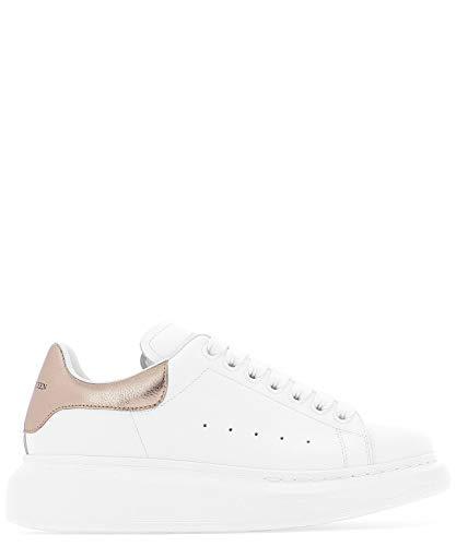 Alexander McQueen Women's 553770Whfbu9053 White Leather Sneakers