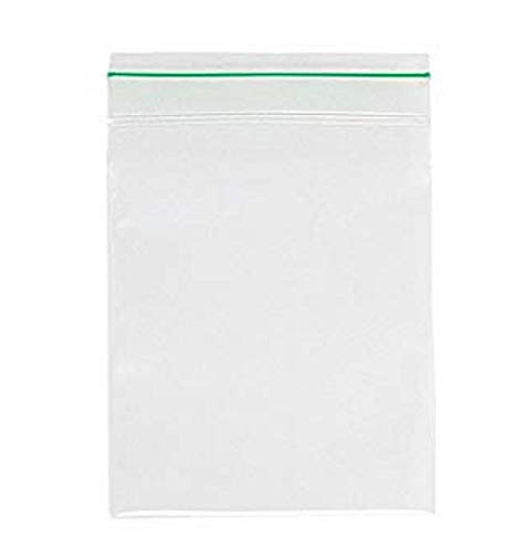 100 Pack of Greenline Zip Lock Bags 4 x 6. Reclosable Poly Bags 2 Mil. Resealable Polyethylene Storage Bags. Biodegradable Plastic Bag for Food sevice, Healthcare. Eco Friendly. Meets ASTM D5511. -
