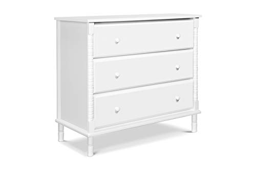 Davinci Jenny Lind Spindle 3 Drawer Dresser, White
