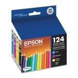 Epson T124 Moderate Capacity Set of 4 OEM Ink Cartridges: 1