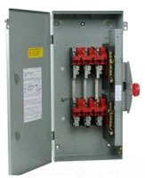 Eaton 100 Amp 120/240-Volt 24,000-Watt Non-Fused General-Duty Double-Throw Safety - Fused Switch Safety
