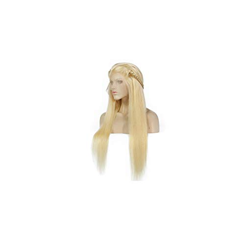 Blonde Wigs 180% Density Silky Straight Brazilian Remy Human Hair lace front Wig 613 Lace Front Human Hair Wig,#613,24inches,150%