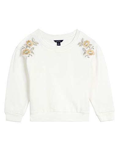 Nautica Girls' Toddler Long Sleeve Holiday Fashion Tops, Cream 2T -