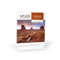 Award winning Entrada Fine Art is what makes Moab Paper Company stand above thecompetition. Entrada Fine Art Bright White is a dual sided 100% cotton rag paper. It utilizes multiple receiving layers which equate to a superior ink load capacit...