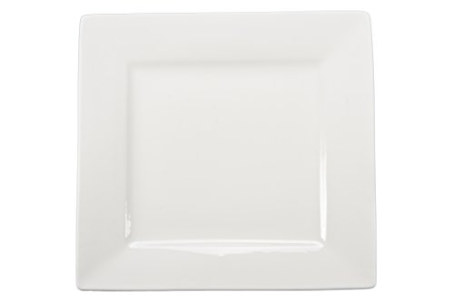 BIA Cordon Bleu 7.25-Inch Square Plate, Set of 4, White Bia Cordon Bleu Square Plates
