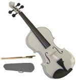 GRACE 15 inch White Viola with Case and Bow + Free Rosin by Grace