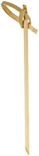 PacknWood Bamboo Knot Pick Looped Skewer for Cocktail and Hors' D'oeuvres, 3.5'' Length (Case of 2000) by PacknWood