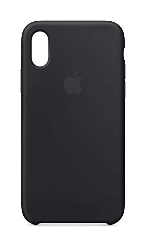 (Apple Silicone Case (for iPhone Xs) - Black)
