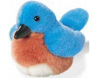 Eastern Bluebird - Audubon Plush Bird (Authentic Bird Sound)