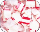 (Peppermint Red & White Gourmet Salt Water Taffy 1 Pound Bag)