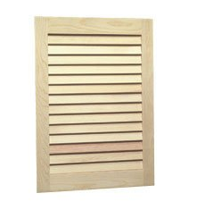 Jensen 607ADJ Basic Louver Unfinished Wood Single Recessed Medicine ()