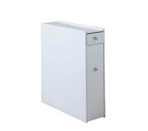 - Prоmаn Prоducts Bathroom Floor Cabinet Wood in Pure White