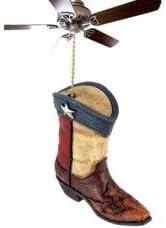 Texas Flag Ceiling Fan or Light Pull Texas Lone Star Western Boot Design