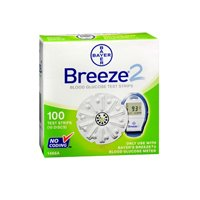 Bayer Bayer Breeze 2 Blood Glucose Test Strips, 100 ct (Pack of 3)