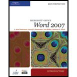 Microsoft Office Word 2007, Introductory (08) by [Paperback (2007)] ebook