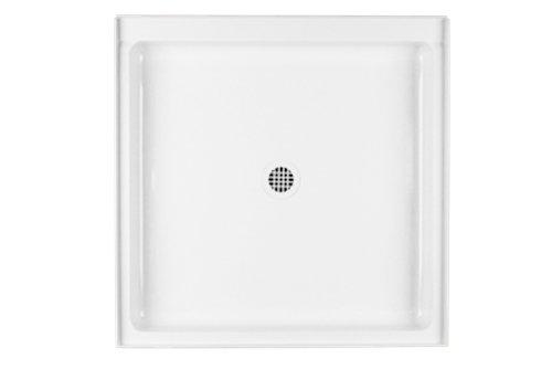 Swanstone R-3636-010 Veritek Center Drain Shower Base, 36-Inch by 36-Inch by 5-1/2-Inch, White