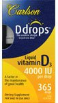Carlson Labs Ddrops Liquid Vitamine D3 4000 UI