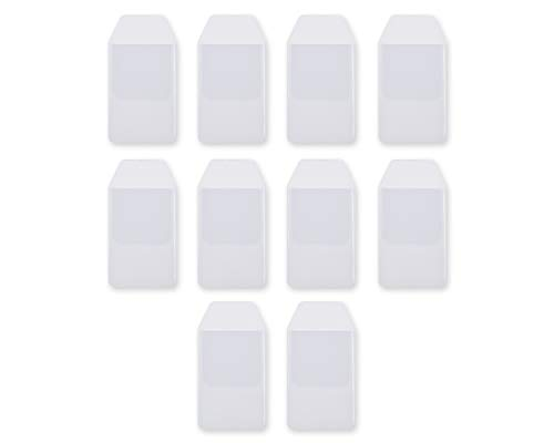 Ace Select Shirt Pocket Protector 10 Pieces Clear PVC Heavy Duty Pocket Protectors for School Hospital Office Supplies ()