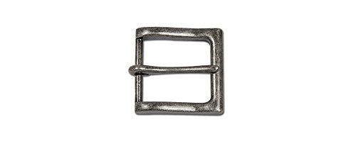 "Tandy Leather Bandera Buckle 1-1/4"" (32 mm) Antique Nickel Free Plate 1651-01"