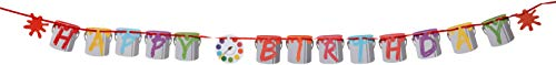 Creative Converting 317729 Art Party Letter Banner, 6
