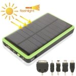 MAUBHYA 2600mAh Mobile Phone Emergency Power Station with Solar Charger & LED Flash Light for iPhone 5/iPhone 4/Samsung i9500/Nokia Lumia 1020/920 (Green) -