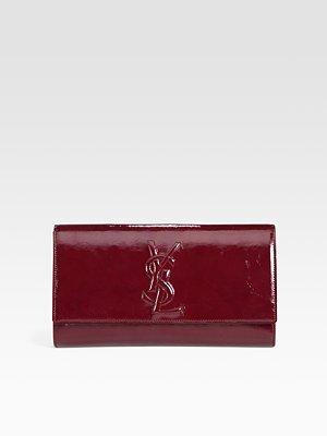 783553449 Yves Saint Laurent YSL Large Patent Leather Clutch - Grey: Amazon.co.uk:  Luggage